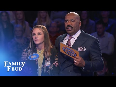 Steve Harvey is STUNNED! AMAZING COMEBACK on the Feud!!! | Family Feud - Thời lượng: 4 phút, 42 giây.
