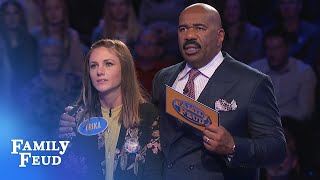 Video Steve Harvey is STUNNED! AMAZING COMEBACK on the Feud!!! | Family Feud MP3, 3GP, MP4, WEBM, AVI, FLV Maret 2019