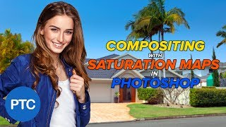 Compositing With SATURATION MAPS in Photoshop - Match Saturation