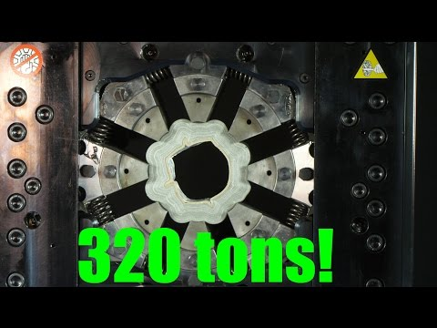 Crushing Things With A 360Degree Hydraulic Press Crimping