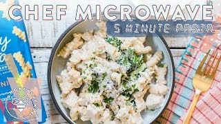 Hey #BuzyBeez! Chef Microwave is back this time with a 5 Minute Chicken Alfredo sponsored by Barilla! Recipe below #ad #readypastaSUBSCRIBE: https://www.youtube.com/user/honeysucklecatering?sub_confirmation=1Ready Pasta: http://bit.ly/honeysucklebarilla5 Min Chicken Alfredo Recipe (serves 2):2 cloves GarlicSea Salt1 Rotisserie Chicken Breast1 cup Chopped Broccoli Florets1/2 tsp Sea Salt2 cups Barilla Creamy Alfredo SauceCracked Pepper2 tbsp grated Parmesan Cheese1 tbsp Butter1 pack Barilla Ready Pasta RotiniMore Pepper, Parmesan Cheese, Chopped Parsley for garnishPeel and crush the Garlic cloves with a sprinkle of Sea Salt. This will help draw out the moisture and flavor.De-bone and chop the Chicken breast into cubes. Add to a bowl along with the Broccoli, Salt, Barilla Alfredo Sauce, Pepper, Parmesan Cheese. Mix together and add the Butter on top.Microwave 3 minutes.Prepare the Barilla Ready Pasta according to the package directions. Tear a vent and microwave 60 seconds.Add the Rotini into the bowl of Alfredo sauce, mix, and serve.Garnish with more Pepper, Parmesan, and Chopped Parsley.Honeysuckle Logo by Karli Ingersoll: http://karliingersoll.com/Honeysuckle Bee logo by Spruce Rd: http://www.sprucerd.com/Graphics by Dawn Lee Design: http://www.dawnleedesign.com/Music by Lullatone: https://www.youtube.com/user/lullashawnMaking things Fun, Pretty, and Delicious! Honeysuckle is a lifestyle channel for young adult women interested in entertaining and cooking at home.INSTAGRAM Follow me: instagram.com/honeysucklebeezBLOG: http://www.honeysucklecatering.com/© 2017 Honeysuckle Catering. All Rights Reserved.