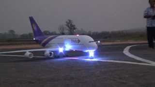 Video RC Chiangrai Thailand A380 with light sign at Rimchorn flying club(Meeting 2014) MP3, 3GP, MP4, WEBM, AVI, FLV Juni 2018