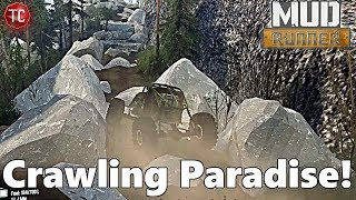 SpinTires Mudrunner: Rocks Valley Trailhead - ROCK CRAWLING PARADISE!!
