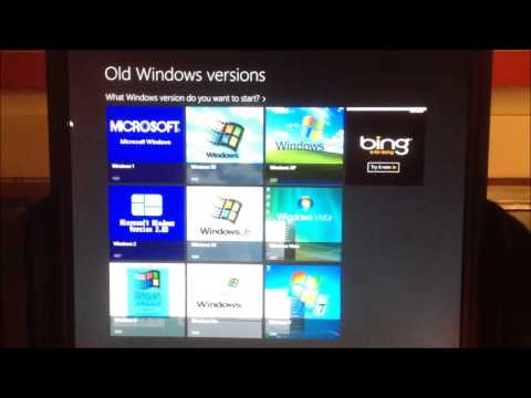 Windows 8 Apps: Old Windows Versions