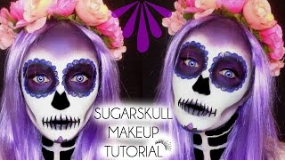 HALLOWEEN SUGARSKULL - DAY OF THE DEAD Makeup Tutorial  Laura...