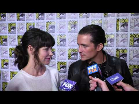 Lilly - Orlando Bloom and Evangaline Lilly talk 'The Hobbit: Battle of Five Armies' at Comic Con 2014.