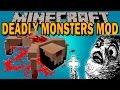 DEADLY MONSTERS MOD - El exorcista en minecraft!! - Minecraft mod 1.10.2, 1.11 Review