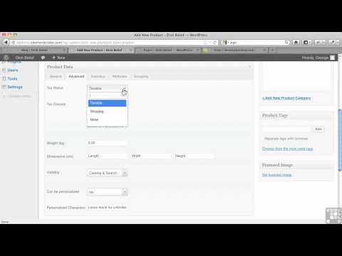 WordPress for E-Commerce Tutorial | Jigoshop – Add A Product And Categories