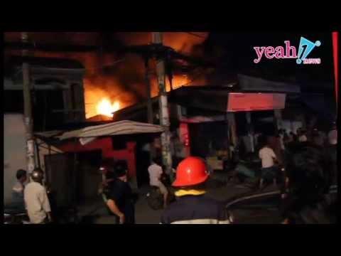 Cháy lớn xưởng nệm mút ở Tân Phú