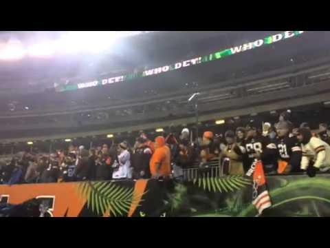 Cleveland Browns fans after win at Cincinnati