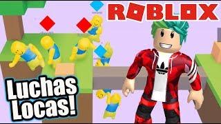 Luchas Locas en Roblox | Gang Beasts en Roblox | Juegos Karim Juega