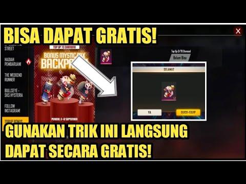 CARA DAPAT GRATIS BONUS TOPUP MYSTIC FOX BACKPACK - FREE FIRE INDONESIA