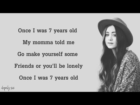 7 Years - Lukas Graham (Cover By Jasmine Thompson)(Lyrics)