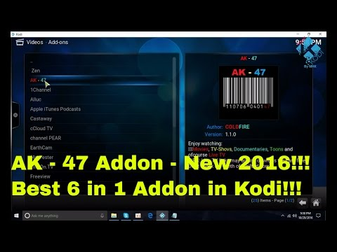 AK-47 Addon (New 2016)-How to install in Kodi to watch HD Movies, TV Shows and Live TV for free