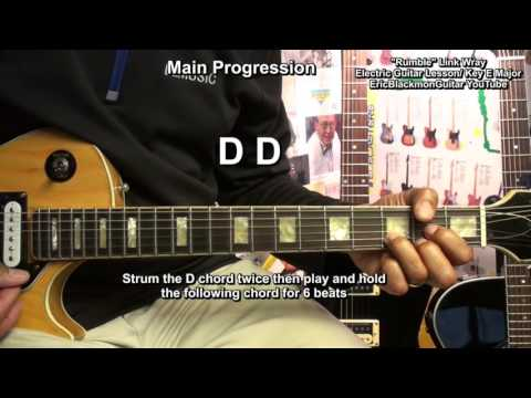 Complete RUMBLE Link Wray & His Ray Men Guitar Lesson With Solo EricBlackmonMusicHD