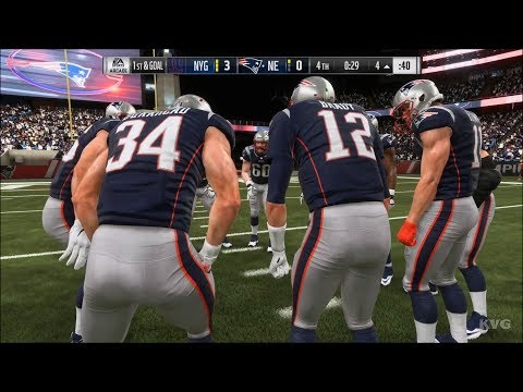 Madden NFL 19 - New England Patriots vs New York Giants - Gameplay (HD) [1080p60FPS]