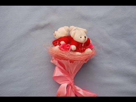 Букет из мягких игрушек. Сделай сам. DIY plush toy bouquet