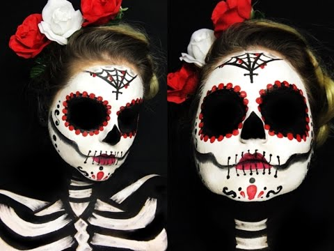 Skull Candy (Catrina) | Halloween Makeup Dia de los Muertos | Makeup Tutorial |  Maryandpalettes