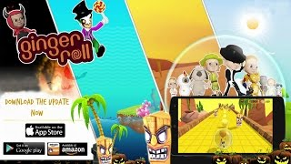 """Ginger Roll Mobile Gameplay On IOS / Android #GingerRoll Mobile Onlines Game For Kids""""Ginger Roll will keep you coming back for more. """" - App Advice""""Ginger Roll is a proof that the creative minds still exist on the App Store,"""" - The iPhone App Review""""If you like games that use motion-sensing and require a good deal of skill, you will enjoy Ginger Roll."""" - Indie Game News--------------------------------------------------------------Get ready to save the world from malevolent Iblis and his wicked minions. Join little Saif and his cute friends as they roll and dodge through countless levels, obstacles, platforms and enemies in this 3D adventure. Ginger Roll is an arcade platform game featuring the ginger pint-sized hero Saif. He has been trapped by the evil child genius Iblis in a Zorb ball. Roll and dodge your way through the various challenges and levels that Iblis has set for you and stop him from world domination.Ginger Roll has 60 beautiful levels spread out over 4 spectacular worlds. Watch out for Iblis' minions as they will try to stop you no matter what in this fun platform game!Dodge and roll past obstacles, moving platforms and Iblis' minions in this great mobile arcade platform. Unlock Saif's friends to play as them during the game as well as some funky outfits.The massive update of Ginger Roll includes count down timers, improved controls and graphics, alternative controls and many more featuresFeatures:- Tilt your phone to control the direction of Saif inside his ball. Make sure you don't fall off the edge of the level or its game over! Use Alternative on-screen joystick controls if you prefer.- Record and share your game play with friends and on social media.- With awesome power ups turn your zorb ball from a normal one into a basketball or even bowling ball! Each power up comes with its own special ability!- Collect cookies to unlock new power ups, costumes and characters like the Michael Jackson outfit or Karate outfit.- Can you beat the finish the stag"""