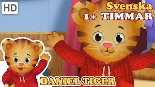 Möt fyraåriga Daniel Tiger och hans vänner. Daniel Tiger och hans vänner Madelina, Prins Onsdag, Kattis och ugglan Ho lär sig om känslor och sånt genom ...