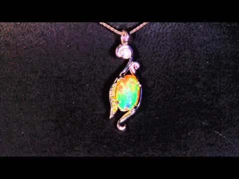 Welo opal pendant designed by christopher michael 265 carat faceted welo opal pendant designed by christopher michael 265 carat mozeypictures Gallery