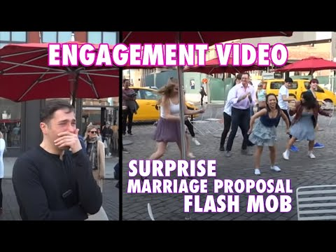Marriage Proposal - Romantic Surprise Flash-Mob - Watch the Reaction! - Gay Couple in Love
