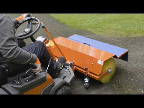 Садовый райдер бензиновый HUSQVARNA R 420TSX AWD - видео №4