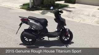 4. Genuine Rough House 50cc Titanium 2015 (Review) (Walk-around)
