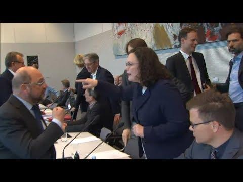 SPD: Sägen an Andrea Nahles Stuhl - plant Martin Schu ...