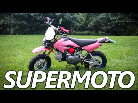 Street Legal Crf50: Supermoto Wheels Install