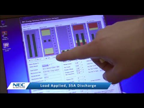 NEC Energy Solutions' ALM 12V35 under voltage and over voltage demonstration