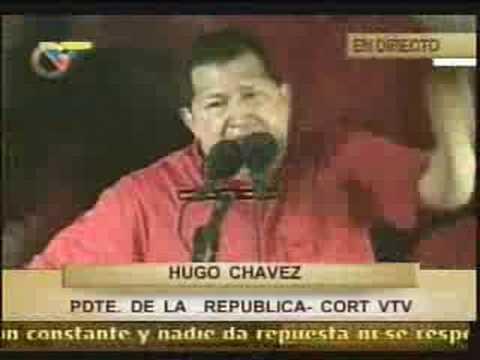 Hugo Chávez: Váyanse al carajo, Yankees de mierda!