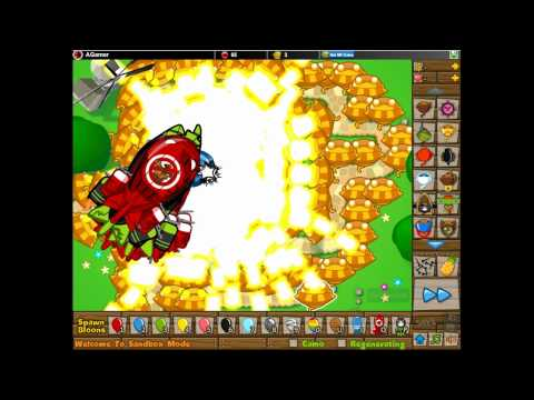 Bloons Tower Defense 5-Sun God Army VS. 100 ZOMG