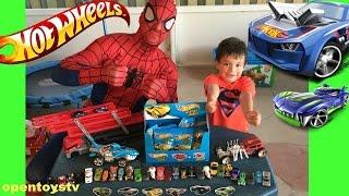 Video Hot wheels 1 mega hauler Spiderman Open new toys and hot wheels cars spiderman fun OPENTOYSTV MP3, 3GP, MP4, WEBM, AVI, FLV Desember 2017