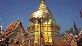 タイの寺院ワットプラタートドイステープ