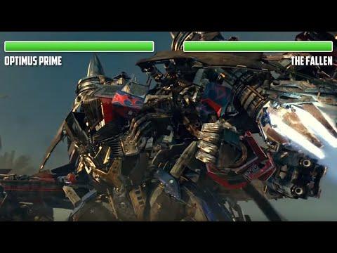 Optimus Prime vs. The Fallen and Megatron WITH HEALTHBARS | Final Battle | HD | Transformers: RotF