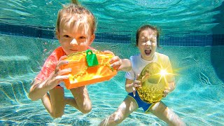 UNDERWATER EASTER SPECIAL! Liv + Pey Search For Hidden Treasure & Golden Egg