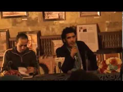 كلمة الإفتتاحية مع الشاعر سالم الشهباني وأيمن مسعود في بيت السناري