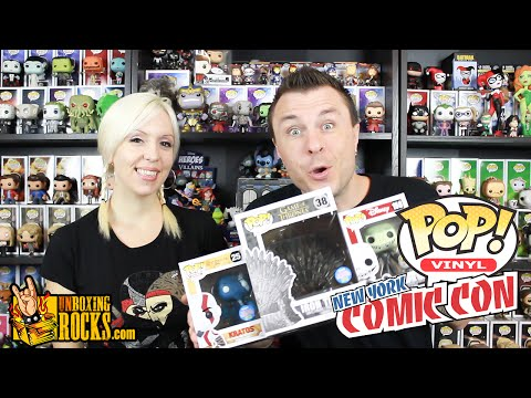 NYCC 2015 Funko POP Vinyl Exclusives (Iron Throne, Jack, and Kratos!) Unboxing Review