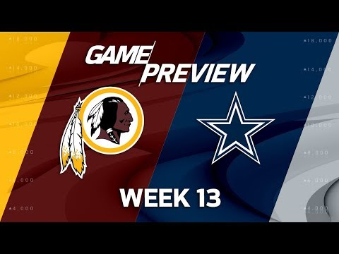 Video: Washington Redskins vs. Dallas Cowboys | NFL Week 13 Game Preview | Film Review