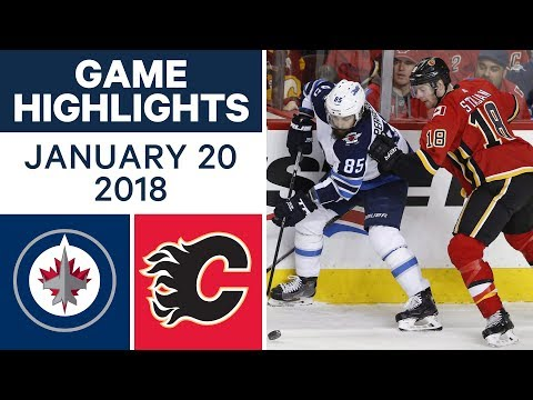 Video: NHL game in 4 minutes: Jets vs. Flames