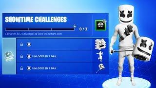 The NEW Fortnite MARSHMELLO CHALLENGES! (New Marshmello Event)