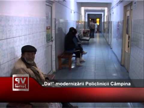 """""""Da!"""" modernizării Policlinicii Câmpina"""