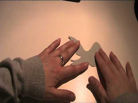 Teil 1 Tischkarte mit Taube - Video Anleitung