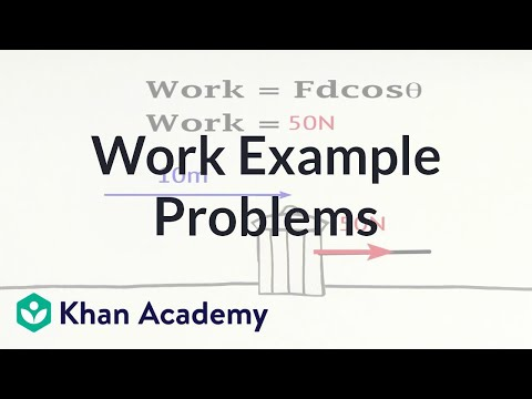 Work Example Problems Video Khan Academy