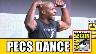 Terry Crews awesome Pecs Dance at the Netflix Comic Con Panel!Subscribe for more! ► http://bit.ly/FlicksSubscribeN.B. Footage, clips, previews, trailers & sneak peeks shown at Comic Con panels are not included in this video, as these are not allowed to be filmed. RELATED VIDEOS--------------Bright Comic Con Panel ► http://youtu.be/udgr3zcDq2oPLAYLISTS YOU MIGHT LIKE------------------------Marvel ► http://bit.ly/MarvelVideosDC ► http://bit.ly/DCVideosFox Marvel Movies ► http://bit.ly/FoxMarvelVideosStar Wars ► http://bit.ly/StarWarsVidsMovie Deleted Scenes & Rejected Concepts ► http://bit.ly/MovieDeletedScenesEaster Eggs ► http://bit.ly/EasterEggVideosAmazing Movie Facts ► http://bit.ly/ThingsYouDidntKnowVideosPixar ► http://bit.ly/PixarVideosDisney Animation ► http://bit.ly/DisneyAnimationVideosSOCIAL MEDIA & WEBSITE----------------------Twitter ► http://twitter.com/FlicksCityFacebook ► http://facebook.com/FlicksAndTheCityGoogle+ ► http://google.com/+FlicksAndTheCityWebsite ► http://FlicksAndTheCity.comThanks to Comic Con International http://www.comic-con.org/