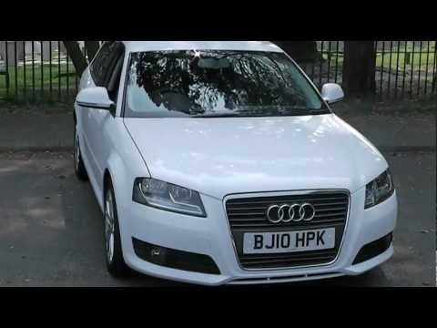 emisions - This is a one owner example of the frugal Audi A3 sportback in white. The car comes equipped with anthractice sport seats, factory fitted privacy glass, allo...