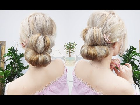Hairstyles for long hair - 3MIN SIMLPE ELEGANT UPDO HAIRSTYLE FOR LONG, MEDIUM OR SHORT HAIR  Awesome Hairstyles