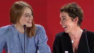 Video Olivia Colman Really Enjoyed Lesbian Sex Scene With Emma Stone MP3, 3GP, MP4, WEBM, AVI, FLV April 2019