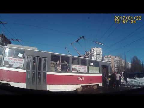 Авария с трамваем